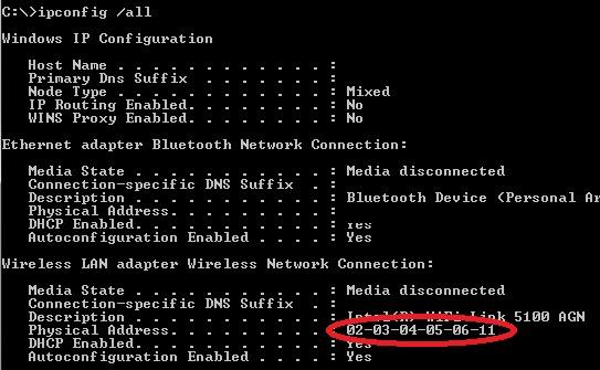 Change Wifi adapter MAC address on Windows 7 – Tino Šokić
